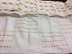 Gold and White/ Kente African Kente Cloth/ Hand Woven Kente/ Bright African Fabric Kente/ African culture inspiration/ Authentic Hand woven/