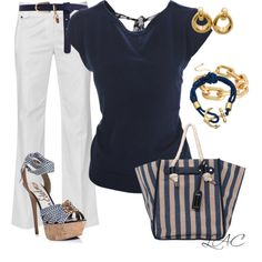 A fashion look from May 2013 featuring boat neck sweater, white cotton pants and black leather sandals. Browse and shop related looks. Black Leather Sandals, Casual Party, Cotton Pants, Boat Neck, Streetwear Brands, Hair Beauty, Fashion Looks, Gucci, Luxury Fashion