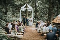Jennifer and Christian's Herbal Themed Outdoor Forest Wedding by Rivkah…