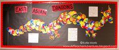 Adventures of an Art Teacher: Dragon Bulletin Board. Love the idea!