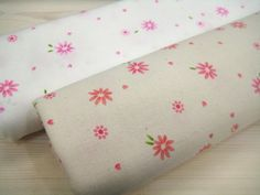 2 Color Flower Print Cotton Fabric C335 by KoreanFabric on Etsy