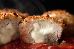 Chicken Parmesan Meatloaf Muffins - main dish or appetizer? Portion control strategy. I think I will try it.