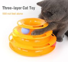 Tracks Cat Tower Toy - Three Layers Cat Interactive Toys Educational Cat Track Toy with Track Balls Amusement Plate for Cats -- Very kind of your presence to drop by to visit our picture. (This is our affiliate link) Robot Cat Toy, Best Interactive Cat Toys, Cool Cat Toys, Cat Allergies, Son Chat, Kitten Toys, Catnip Toys, Puzzle Toys, Cat Supplies