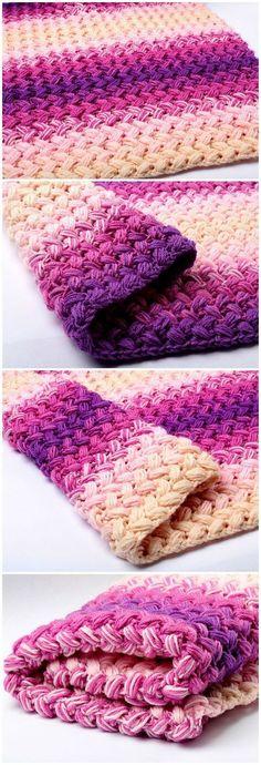 Quick And Easy Crochet Blanket Patterns For Beginners: Crochet Zig Zag Blanket.