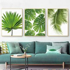 Quality Tropical Banana Leaf Canvas Painting Fresh Palm Leaves Nordic Green Plant Poster Greenery Wall Picture Room Decoration with free worldwide shipping on AliExpress Mobile Leaf Wall Art, Canvas Wall Art, Canvas Poster, Print Poster, Poster Wall, Canvas Prints, Art Prints, 3 Canvas Paintings, 3 Canvas Painting Ideas