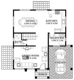 Design plans one floor modern home floor plans modern home house plans with modern house design 2012005 2 Storey House Design, Small House Design, Cool House Designs, Modern House Design, Contemporary Design, House Plans 2 Story, Double Story House, Best House Plans, Plans Architecture