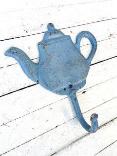 Cast Iron Tea Pot Hook, Iron Wall Decor, Door Hook, Clothing Hook, Towel Hook, Door Hardware,Antique,Home and Garden, Nautical by TheIronNook on Etsy