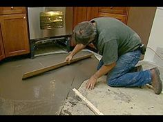 Learn how to resurface worn concrete with this step-by-step guide from This Old House. DIY concrete refinishing is fairly simple and results in a durable surface. Old Basement, Modern Basement, Basement Flooring, Basement Bathroom, Basement Remodeling, Bathroom Plumbing, Small Bathroom, Diy Flooring, Laminate Flooring