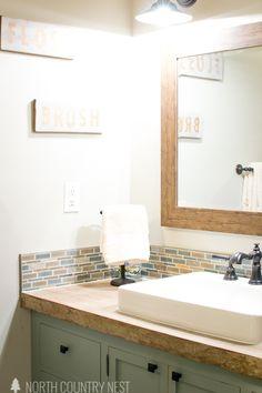industrial farmhouse guest bathroom renovation / home decor / home renovation / interior design / ideas / inspiration