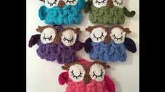 Crochet Owl Tea Cozy Pattern - Learn the Scallop Stitch! - YouTube