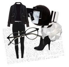 """TotalBlackLook"" by elina-bartsevich on Polyvore featuring мода, BCBGMAXAZRIA, Jaeger, Zizzi, Zero Gravity и Chanel"
