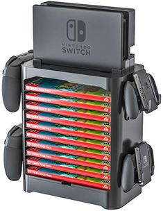 Stackable game storage tower compatible with nintendo switch. Product Features Game Storage Stand and Accessory Drawer Compatible with Nintendo Switch Organize Nintendo Switch Accessories, Gaming Accessories, Game Boy, Carte Pokemon Rare, Video Game Storage, Video Game Organization, Nintendo Room, 17 Kpop, Nintendo Switch Case