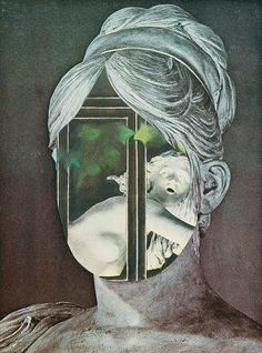 Jiří  Kolář  (1914 - 2002, Prague) The Head (Hlava), 1989.