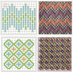 Gráficos de tapeçaria para fio de malha Bargello Needlepoint, Bargello Quilts, Bargello Patterns, Needlepoint Stitches, Crochet Stitches Patterns, Stitch Patterns, Needlework, Diy Embroidery, Cross Stitch Embroidery