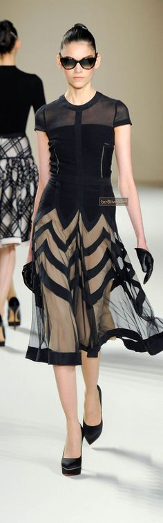 Temperley London Fall Winter 2013 (the way the skirt is done would be an interesting application for a wedding dress)