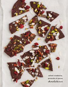 Cranberry & Pistachio Chocolate Bark / @loveandlemons #vegan #glutenfree