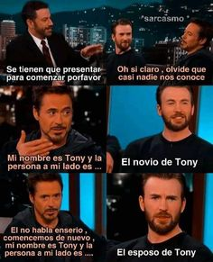 Steve And Tony, Memes, Movie Posters, Stony, Frases, Sarcasm, Names, People, Grooms
