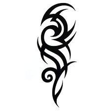 Tattoo Body Art Sticker Unisex Black Pattern Removable Waterproof Temporary Tattoo Body Art Sticker New Waterproof Temporary Tribal Art Tattoos, Tribal Shoulder Tattoos, Tribal Tattoo Designs, Maori Tattoos, Flame Tattoos, Side Tattoos, Small Tattoos, Tattoos For Guys, Tatoo Musical