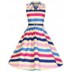 'Matilda' Ice Cream Stripe Rockabilly Shirt Dress
