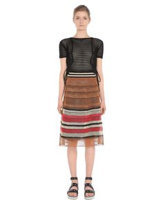 Are you looking for REDValentino Women Raffia Effect Knit Skirt? Discover all the details at the official store and shop online: fast delivery and secure payments.