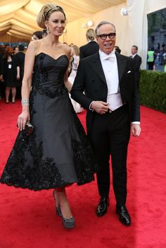 Met Ball Gala Red Carpet Arrivals - 2014 - Dress Code - White Tie & Tails . . . Tommy Hilfiger & Dee Ocleppo