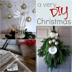 Lots of DIY Christmas decoration and gifts tutorials & ideas! Merry Christmas To You, Christmas Love, All Things Christmas, Christmas Holidays, Christmas Wreaths, Christmas Decorations, Christmas Goodies, Christmas Recipes, Holiday Crafts