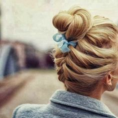 Beautiful Hairstyle with Braided Bun, Very Cute