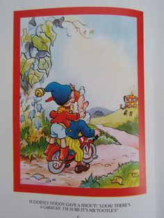 Vintage Noddy Book Noddy and the Tootles by Enid by WhyBuyVintage Children's Book Illustration, Book Illustrations, Enid Blyton, Kids Tv Shows, Old World Charm, Vintage Books, Childhood Memories, Childrens Books, Art For Kids