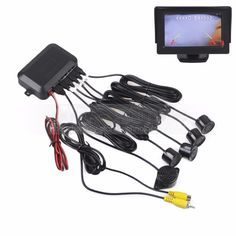 Consumer Electronics 3in1 170°car Visual Reversing Rear View Camera With Radar Parking Sensor Ture 100% Guarantee Car Video