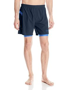 24104d950ca80 Speedo Men's Hydrosprinter with Compression Swimsuit Shorts Workout & Swim  Trunks, New Navy, Medium
