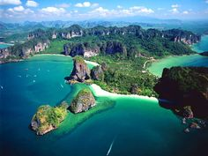 Railay Beach, Krabi Province, Thailand why phuket is more than just a tourist trap Places Around The World, Oh The Places You'll Go, Cool Places To Visit, Places To Travel, Laos, James Bond Island, Travel Center, Road To Hana, Wayfarer