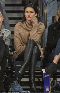 Kendall Jenner steals spotlight watching basketball in New York City #dailymail