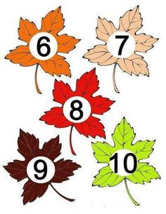 Igraem 4 - Aleiga V. Autumn Leaves Craft, Autumn Crafts, Nature Crafts, Autumn Activities For Kids, Math For Kids, Craft Activities, Crafts Fir Kids, Leaf Crafts, Learning Numbers Preschool