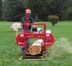 """Oscar 328 Portable Sawmill! 28"""" Diameter Log Capacity. Check out a video online at www.hud-son.com"""