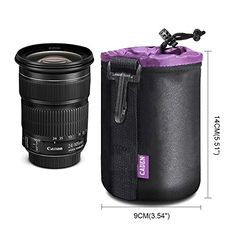 Lens Case Lens Pouch Bag with Thick Protective Neoprene Soft Plush for DSLR Camera Lens Canon Nikon Sony Pentax Olympus Panasonic *** Continue with the details at the image link. #LovelyPhotos