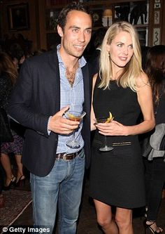 James Middleton and his girlfriend, Donna Air.