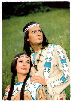 https://flic.kr/p/HxCjFq | Pierre Brice and Karin Dor in Winnetou - 2.Teil (1964) | German postcard, no R 17. Photo: publicity still for Winnetou 2. Teil/Winnetou: The Red Gentleman (Harald Reinl, 1964).  Caption: So werden Ribanna und Winnetou gezwungen, ihre Liebe dem Frieden zu opfern. (Thus Ribanna and Winnetou are forced to sacrifice their love for peace).  Pierce Brice, the French actor who fascinated millions of European film fans in his role as Apache chief Winnetou has died. The…
