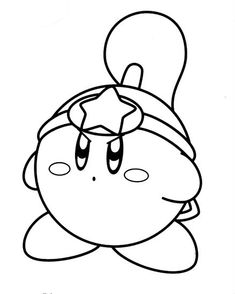 downloadable kirby coloring pages