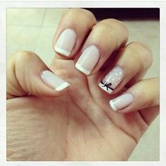 46 New Ideas For Nails Sencillas Cortas Blancas Simple Acrylic Nails, Acrylic Nail Art, Simple Nails, French Nails, Pretty Nails, Fun Nails, Nagel Stamping, Manicure E Pedicure, Best Nail Art Designs