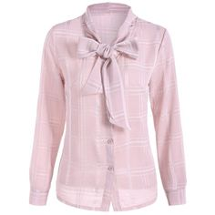 20.63$  Watch here - http://dijc9.justgood.pw/go.php?t=201484802 - Grid Pussy Bow Tied Neck Blouse