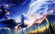 Anime Angel Beats!  Kanade Tachibana Wallpaper