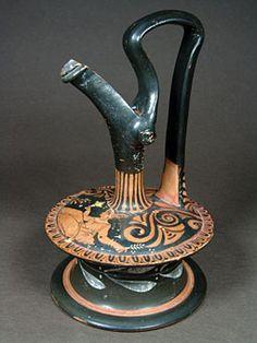 Όστρακο Αρχαία Τέχνη, Απουλίας Ερυθρόμορφος Epichysis, 340-330 π.Χ.