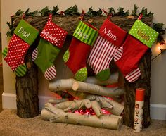 LOVE this idea! I don't have a fireplace & I've always wanted to hang out stockings from a mantle instead of on the wall! LOL