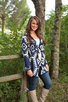 The Pink Lily Boutique - Navy Piko Cardigan, $39.00 (http://www.thepinklilyboutique.com/navy-piko-cardigan/)