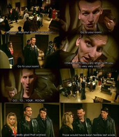 """One of my favorite moments with the 9th Doctor. """"Those would've been terrible last words."""""""