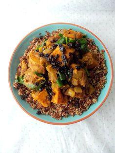 Sweet potato ras el hanout quinoa bowl