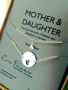 Mother Daughter Bracelet Set // Inspirational Jewelry // Simple Delicate  I want this for me and my mommy!