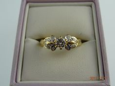 Gold Pre Loved 18ct Solid Yellow Gold 15Diamond Ring 3.8grms | eBay