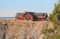 RMLH - Enjoy your solitude and peace of mind in this gorgeous custom built log home. #loghome