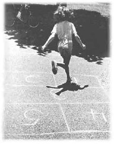 Hopscotch  Hoppy Taws were the marker you used and everyone's were different.